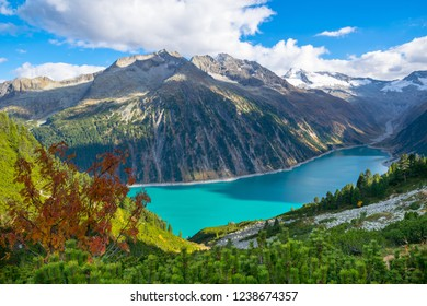 Beautiful view of Schlegeisspeicher Lake from Olpererhutte - Zillertal, Tyrol - Austria