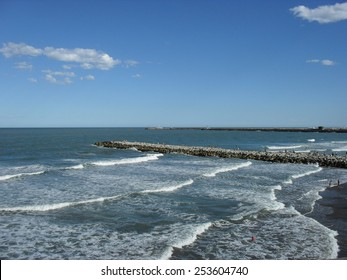Beautiful view of the Sea on the Atlantic Coast South of Buenos Aires in summer, Argentina