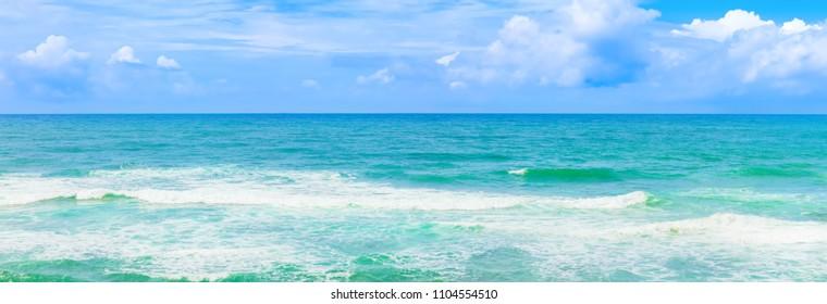 Beautiful view of sea waves. Tropical landscape. High resolution panorama. Sri Lanka
