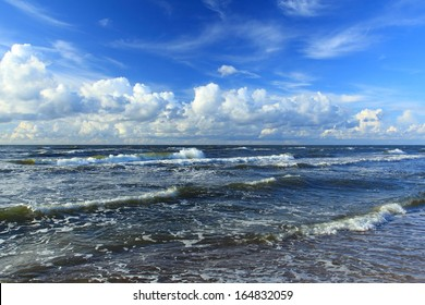 Beautiful View of seascape . Baltic sea Poland.