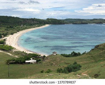 Beautiful view of Seger Beach in Lombok, West Nusa Tenggara Indonesia