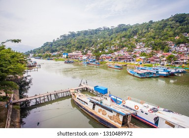 Beautiful View from Siti Nurbaya Bridge, a famous landmark in Padang, west Sumatera, Indonesia.