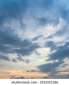 Beautiful view of sky with clouds at sunrise. Partly cloudy. Colorful sunset. Natural sky background texture, beautiful color. Sunset landscape in the sky after sunset