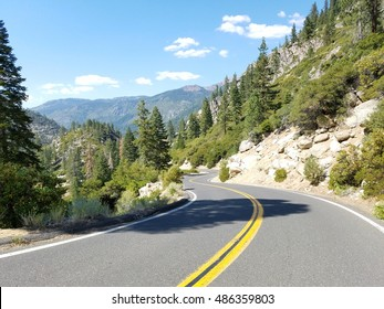 beautiful view of Sonora Pass on scenic highway 108