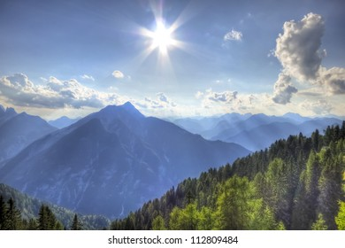 beautiful view of summer mountain landscape