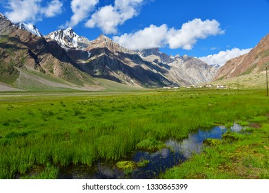 Beautiful view in summer on the way from Kargil to Zanskar, Ladakh, India