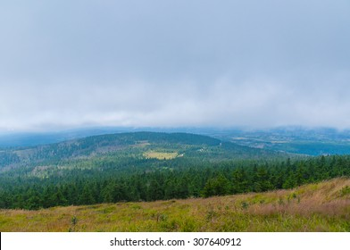 Beautiful view from the summit of the Brocken in National Park Harz, Germany.