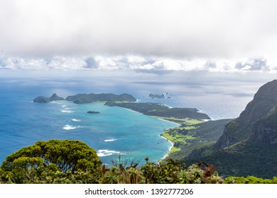 Beautiful view from the summit of Mount Gower (875 meters above sea level), highest point on Lord Howe Island, a pacific subtropical island in the Tasman Sea, belonging to New South Wales, Australia.