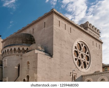 Beautiful view of the synagogue of Trieste, Friuli Venezia Giulia, Italy