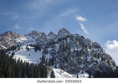 Beautiful view of Tian-Shan mountain. Kazakhstan.