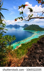 Beautiful view at the top of Bohey Dulang Island  in Semporna Sabah, Malaysia