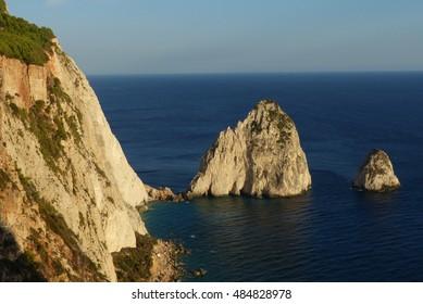 Beautiful view of the top, cape Keri Zakynthos