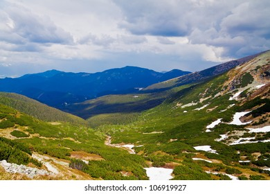 Beautiful view from the top of the hill in Low Tatras, Slovakia