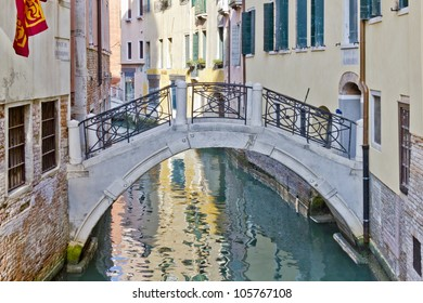 Beautiful view of traditional Venetian buildings along a water channel, Venice, Italy, Europe