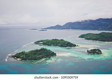 Beautiful view of the tropical Islands from a bird's eye view