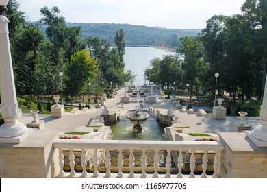 Beautiful view in Valea Morilor park in Chisinau, Moldova