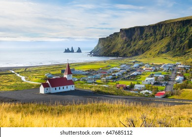 Beautiful view of Vik village - Iceland