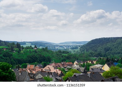 A beautiful view at the village of Rauenstein near Coburg in Germany