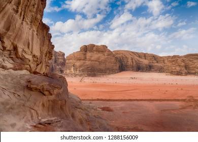 Beautiful View of Wadi Rum Desert Landscape, Jordan.