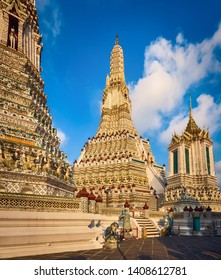 Beautiful view of War Arun a Buddhist temple in Bangkok Yai district of Bangkok, Thailand.