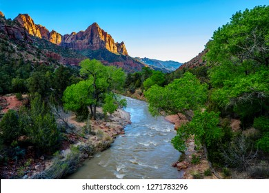 Beautiful View of the Watchman at Zion National Park