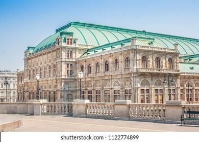 Beautiful view of Wiener Staatsoper (Vienna State Opera) in Vienna, Austria