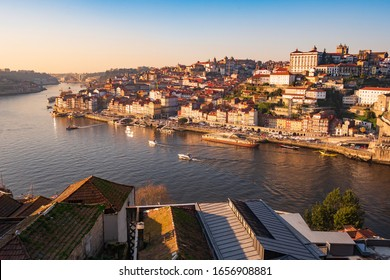 Beautiful Viewpoint from Miradouro da Rua das Aldas to downtown Porto, with the historical buildings, Porto, Portugal
