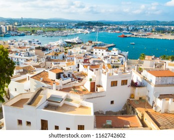 Beautiful views from Dalt Vila of the old town of Ibiza and its port