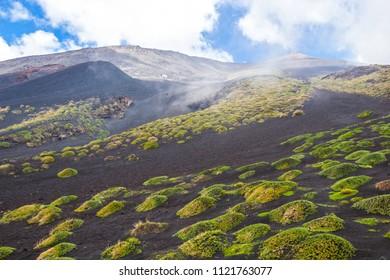 Beautiful views of Etna volcano, Sicily, Italy