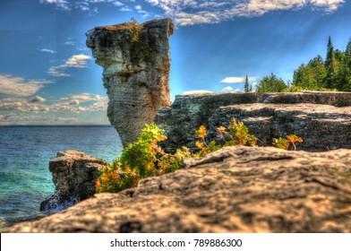 Beautiful Views of Flower Pot Island: Bruce Peninsula Ontario Canada: Summer 2016