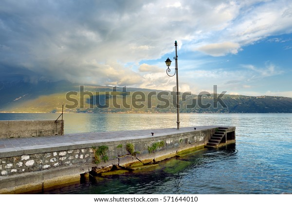 Beautiful views of Gargnano, a small town and comune in the province of Brescia, in Lombardy. It is situated on the western shore of Lake Garda.