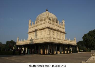 Beautiful views of Golgumbaz or tipu's tomb in Sreerangapatna, Karnataka, India 03-01-2010