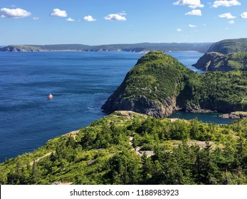 Beautiful views hiking the east coast trail off the coast of Newfoundland and Labrador, Canada.  This section of the hike is outside of St. John's and is called the Sugarloaf path