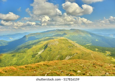 beautiful views of the mountains peaks of the Carpathians
