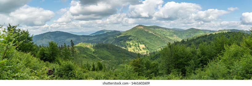 Beautiful views on Kysucke Beskydy mountains near small village of Oscadnica, Slovakia