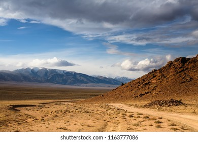 Beautiful views of the steppe and mountains of Western Mongolia.
