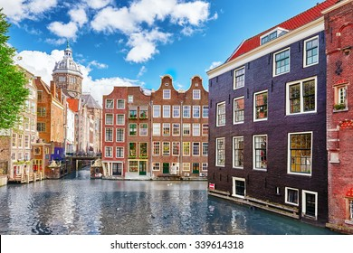 "Beautiful views of the streets, ancient buildings, people, embankments of Amsterdam - also call ""Venice in the North"". Netherland"