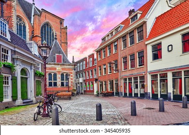 "Beautiful views of the streets, ancient buildings of Amsterdam - also call ""Venice in the North"". Netherland"