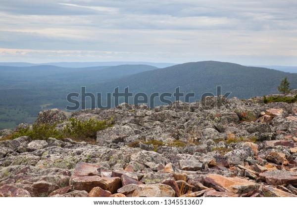 Beautiful views from the top of Levitunturi fell to Katkatunturi fell in Finnish Lapland