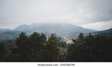 Beautiful views to the Turkish mountains