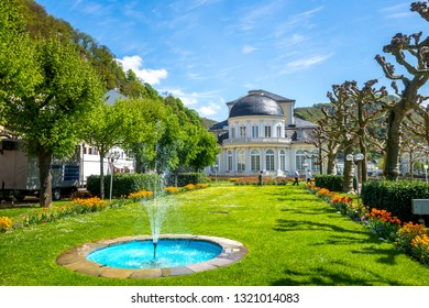 Beautiful village Bad Ems in Lahn Valley, Germany