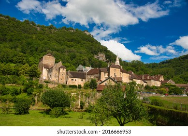 Beautiful village of Baume les Messieurs in the Jura area in France - Shutterstock ID 2016666953