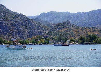 the beautiful village for boats and peaceful holiday,  Selimiye, Marmaris, Turkey
