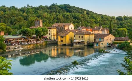 The beautiful village of Borghetto near Valeggio sul Mincio. Province of Verona, Veneto, Italy