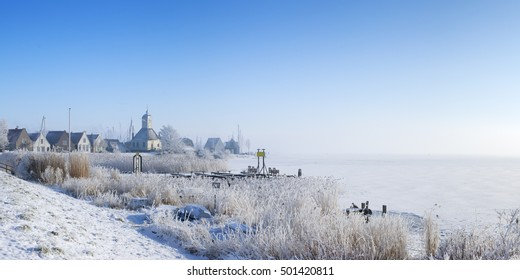 The beautiful village of Durgerdam in The Netherlands along the Markermeer (Lake Marken).