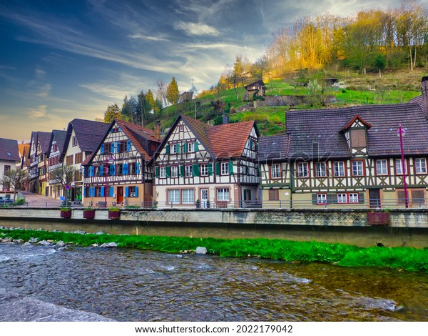 Beautiful village in Germany during     summer.Europe