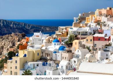 The Beautiful Village of Oia on Santorini, Greece