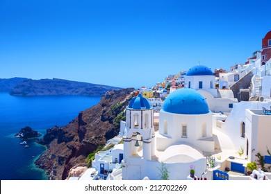 Beautiful Village of Oia in Santorini, Greece
