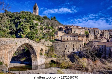 The beautiful village of Olargues, officially one of the prettiest in France, is a medieval village in the mountains north of Beziers