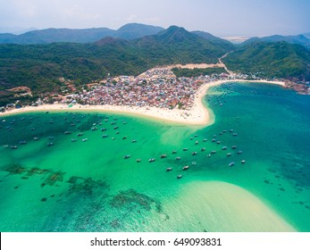 A beautiful village on the beach in Quy Nhon, Vietnam